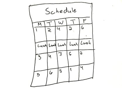 Thinking outside the schedule