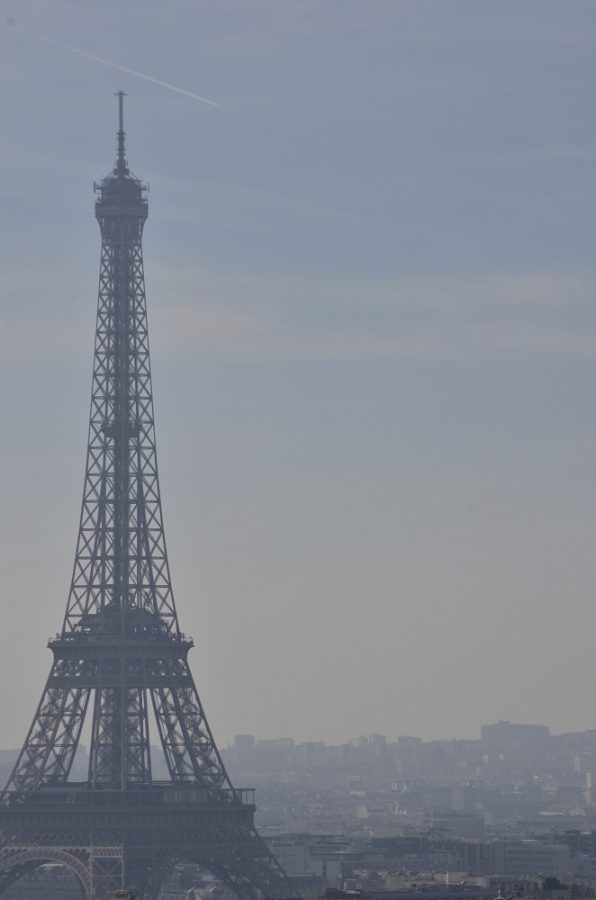 View of the Eiffel Tower from L'Arc de Triomphe