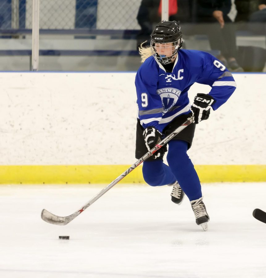 Ellie taking the ice at the Girls Ice Hockey HRM Tournament on December 13, 2019. (Photo/Nancy Erikson/Princeton Day School Flickr)