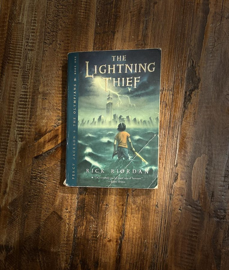 The Lightning Thief by Rick Riordan was a beloved novel for many children. (Photo/Katie Jain '21)