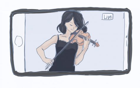 Watching concert performances is now easier than ever. (Image/Amy Zhou '23)