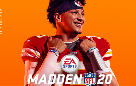 Patrick Mahomes, quarterback of the Kansas City Chiefs, on the cover of video game Madden 20. (Photo/EA)