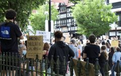 Protesters march through Princeton in protest for the Black Lives Matter movement in June. (Photo/Katie Jain '21)