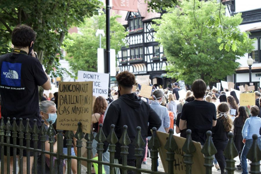 Protesters march through Princeton in protest for the Black Lives Matter movement in June. (Photo/Katie Jain