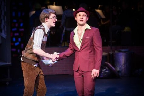 Senior Bruno Cucchi acting alongside alumni Walter Emann. (Photo/PDS)